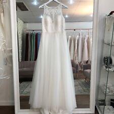 Pronovias White One Wedding Dress Sample Size 12/14