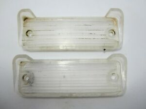 66-67 Chevrolet Caprice Impala Back Up Reverse Light Lense Pair USED