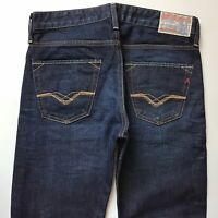 Mens Replay JENNON Slim Straight Leg DARK Blue Jeans W30 L32 (527)