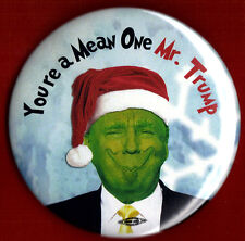 "2016 Anti Donald Trump  3""(Large Size)  / ""The Grinch"" Button (Pin 08L)"
