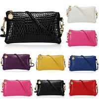 Durable Women Faux Leather Zipper Clutch Mini Cross Body Shoulder Bag Phone Bag
