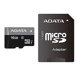 ADATA 16GB Premier Micro SDHC UHS-I Class10 MEMORY Card ADAPTER AUSDH16GUICL10