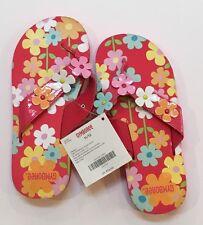 NWT Gymboree Spring Rainbow Flower Flip Flop Sandals 11/12