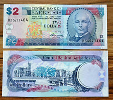Barbados 2 Dollars 2007/ 2012 P-66  UNC BANKNOTE PAPER MONEY CURRENCY CARIBBEAN