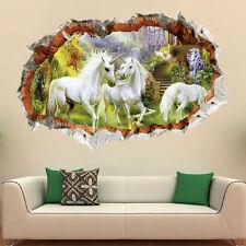 Unicorn Horse Wonderland Mural Wall Sticker Decals Living Room Bedroom Decor