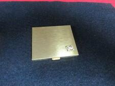 Vintage Rhinestone Compact 1950's Schildkraut Gold Compact Mirror Compact