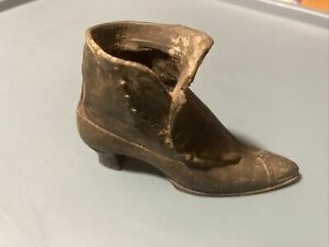 Vintage Silver Metal Shoe / Original A Pin Cushion - J B Jennings Brothers - HTF