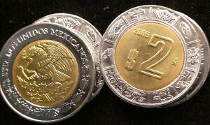 2006 Mexico 2 Nuevos Pesos BiMetallic 23mm KM 604 (C176)