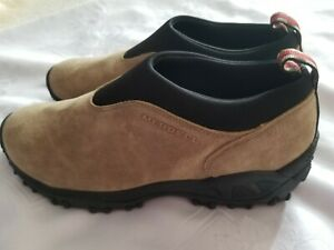 Merrell Mens Orbit Beige Leather Suede Slip On Shoes Size US 10.5