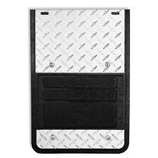 LUND 935D-94 Diamond Tread Square Blk/Slvr Rubber/Aluminum Mud Flaps for Dodge