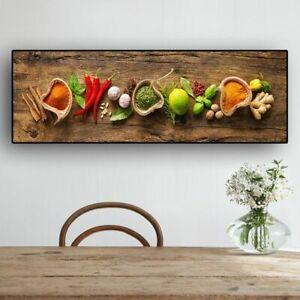 Wall Art Grains Spices Spoon Peppers Kitchen Canvas Painting Food Living Room