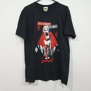 DC Harley Quinn It's Good To Be Bad Graphic T-shirt Size Large