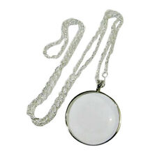 5x Magnifying Glass Decor Monocle Lens Necklace Magnifier Coin Glass Pendant WF