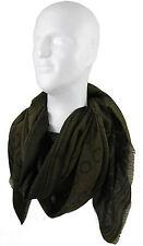 Schal Webschal Jacquard-Punkt modisch grün schwarz 100% Wolle (Merino) R-540
