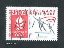 FRENCH POSTAGE - OLYMPIC ALBERTVILLE 92 PATINAGE STAMP 2,80 LA POSTE 1990 FRANCE