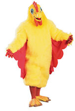 HALLOWEEN ADULT YELLOW CHICKEN COSTUME FUNNY MASK PROP