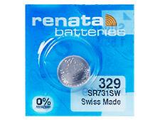 Renata 329 Pila Batteria Orologio Mercury Free Silver Oxide SR731SW Swiss 1.55V