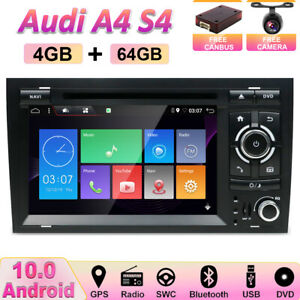 4GB+64GB For AUDI A4 S4 RS4 SAT NAV Android 10 Car GPS Navi DVD Stereo Car Play