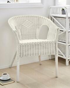 Wicker Chair Rattan Loom Handmade Vintage Bedroom, Dining Seat Back Comfort New