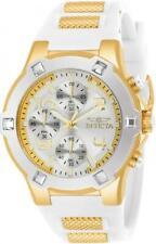 Invicta 24192 Blu 39MM Women's White and Gold Inserts Silicone Watch