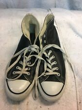 converse all star chuck taylor black leather Hi Top Size 11