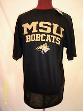 Men's Montana State Bobcats Short-Sleeve T-Shirt Sz M Navy Athletic Fit NWT