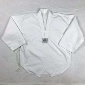 Taekwondo World Champions White V Neck Uniform Gi Top for Karate or Tae Kwon Do