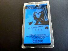 David Lee Roth Australia 1988 Luggage Tag Tour Used Backstage Pass Laminate