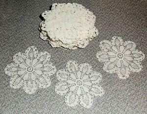 21 SNOWFLAKES Christmas Ornaments Doilies Crochet Lace