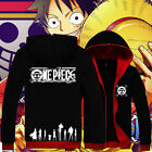 Anime OP/ONE PIECE Monkey D Luffy Black Sweat shirt Casual Hoodie Coat Clothes