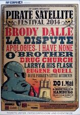 PIRATE SATELLITE - 2014 - Konzertplakat - Brody Dale - La Dispute - Apologies