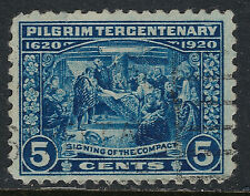 SCOTT 550 1920 5 CENT PILGRIM TERCENTENARY ISSUE USED VF CAT $12!