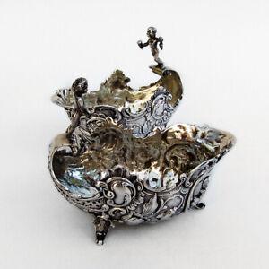 Figural Dishes Bowls 2 Ornate Baroque Designs 800 Silver