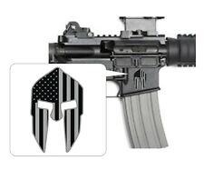 (3) Spartan Helmet Black Ops Stickers / AR15 Lower Decals Stealth Tactical Gear