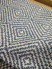 Duralee Blue Diamond Ogee Upholstery Fabric- Cameron/Blue Jay (15379-422) 3.25yd