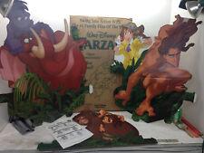 Vintage Walt Disney Tarzan Cardboard Store Display E2893 Advertising Standee