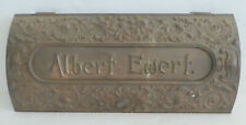 Antique Brass Mail Letter Slot Ornate Albert Ewert ARCHITECTUAL SALVAGE