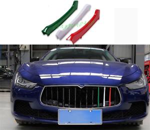 For Maserati Ghibli 2014-2017 3PCS Colour Front Center Grille Grill Cover Trim