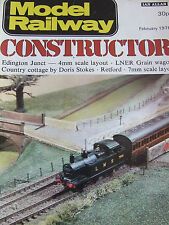 MODEL RAILWAY CONSTRUCTOR MAGAZINE FEB 1976 EDINGTON JUNCT LNER COTTAGE D STOKES