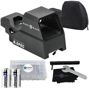 Sightmark Ultra Shot R-Spec Reflex Sight, Red/Green Dot w/2 CR123 & Battery Case