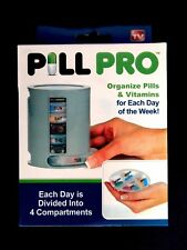 WEEKLY PILL PRO CASE - ORGANISE VITAMINS PILLS PILLBOX SUPPLEMENTS COMPARTMENT