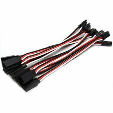 10pcs 15cm Quadcopter Servo Extension Lead Male to Female JR Futaba UK Shipping