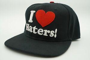 Black - DGK - I Love Haters - Adjustable Snapback skateboard Hat Cap OSFA
