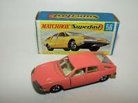 Matchbox Superfast No 56 BMC P1800 Pininfarina Salmon Pink Narrow WH VNMIB RARE