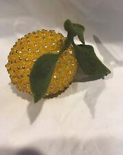 Vintage Mid Century Modern Bejeweled Sequin Lemon Beaded