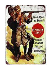 US SELLER, Remington UMC ads Firearms Ammunition metal sign reproduction signs