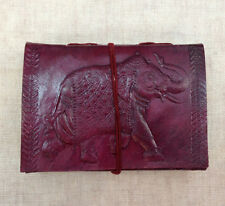 Royal Elephant on SMALL Leather Bound Handmade Paper Journal Diary Note Book