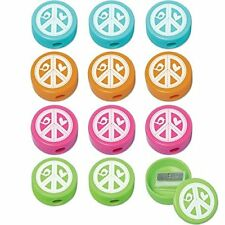 HIPPIE CHICK PENCIL SHARPENERS (12) ~ Birthday Party Supplies Stationery Favors