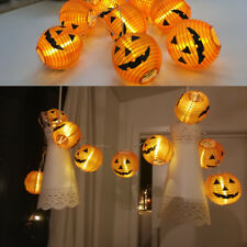 1set 10 LED Pumpkin String Lights Lamp Lantern Halloween Party Warm White Light-