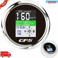 85mm Digital GPS Speedometer KM/H Knots MPH With TFT-LCD Display For Bus Marine